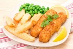 Cena del filete de pescados Fotos de archivo