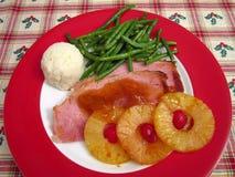 Cena del jamón en la medianoche Foto de archivo