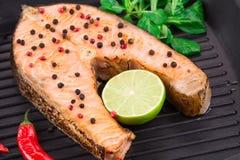 Cena del pesce Immagine Stock