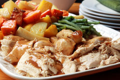 Cena del pollo de carne asada Fotos de archivo
