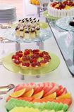 Cena del postre de la comida fría Imagen de archivo libre de regalías