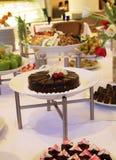 Cena del postre de la comida fría Imágenes de archivo libres de regalías