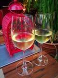 Cena del vino bianco Fotografia Stock