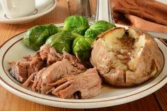 Cena dell'arrosto di carne di maiale Fotografia Stock