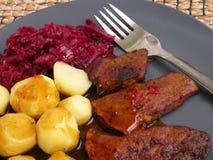 Cena dell'arrosto di maiale II Immagine Stock