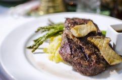 Cena della bistecca Immagine Stock Libera da Diritti