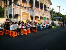 Cena di camminata dello steet di Nonthaburi Immagini Stock