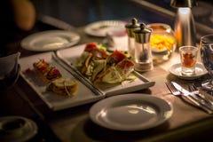 cena di lusso fotografia stock