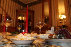 Cena di Natale Fotografia Stock Libera da Diritti