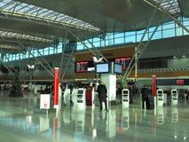Cena do aeroporto Imagem de Stock