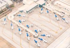 Cena do aeroporto Imagem de Stock Royalty Free