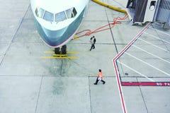 Cena do aeroporto Fotografia de Stock