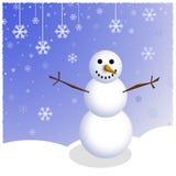 Cena do boneco de neve do inverno Ilustração Stock