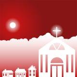 Cena do céu do dia - igreja Imagem de Stock Royalty Free