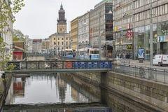 Cena do canal de Gothenburg Fotos de Stock Royalty Free
