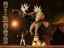 Cena do circo ilustração stock