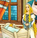 Cena do conto de fadas dos desenhos animados Fotos de Stock Royalty Free