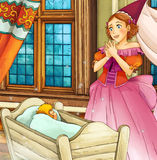 Cena do conto de fadas dos desenhos animados Imagens de Stock Royalty Free