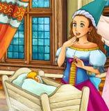 Cena do conto de fadas dos desenhos animados Imagem de Stock Royalty Free