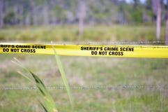 Cena do crime do xerife Imagem de Stock Royalty Free