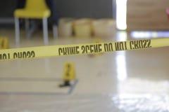 Cena do crime encenada Fotos de Stock Royalty Free