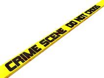 A cena do crime não se cruza Fotografia de Stock Royalty Free