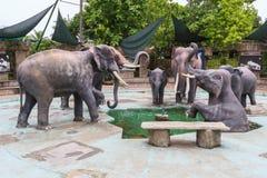 Cena do elefante Fotografia de Stock