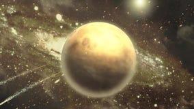 Cena do espaço - nave espacial na tela verde vídeos de arquivo