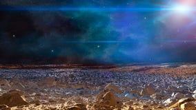 Cena do espa?o Nebulosa colorida com terra do planeta Elementos fornecidos pela NASA rendi??o 3d fotografia de stock royalty free