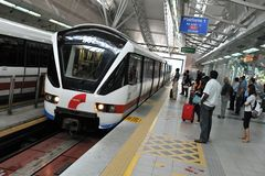 Cena do estação de caminhos-de-ferro em Kuala Lumpur Fotografia de Stock Royalty Free