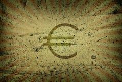 Cena do euro Fotografia de Stock Royalty Free