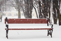 Cena do inverno foto de stock