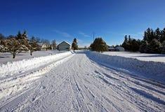 Cena do inverno do país Imagens de Stock Royalty Free