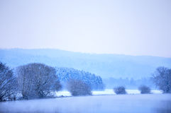 Cena do inverno em um rio Imagens de Stock