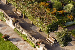 Cena do jardim de acima Imagem de Stock Royalty Free