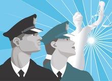 cena do Justiça-Ilustração-vetor Fotografia de Stock Royalty Free