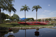 Cena do lago no parque temático de Epcot em Florida imagens de stock royalty free