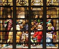 Cena do lote medieval Foto de Stock