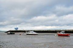 Cena do mar na baía Kent England de Herne foto de stock
