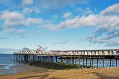 Cena do mar na baía Kent England de Herne imagens de stock