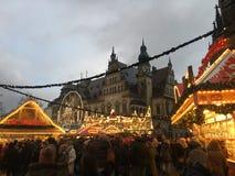 Cena do mercado do Natal em Brema imagem de stock