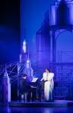 Cena do musical. Theatre.Moscow musical Fotos de Stock