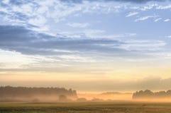 Cena do nascer do sol Foto de Stock Royalty Free