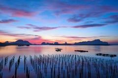 Cena do nascer do sol na Sam-Chong-TAI fotografia de stock royalty free