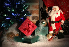 Cena do Natal ano novo feliz 2007 Imagens de Stock