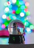 Cena do Natal com luzes obscuras imagens de stock