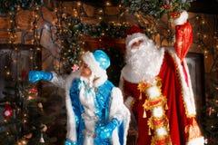 Cena do Natal no estilo do russo imagens de stock royalty free