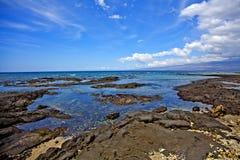 Cena do oceano de Puako Imagens de Stock