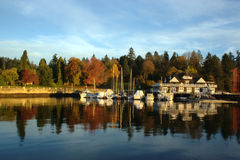 Cena do outono, parque de Stanley Fotografia de Stock Royalty Free