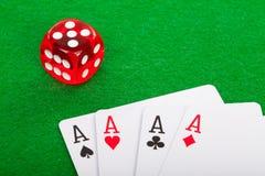Cena do póquer Fotos de Stock Royalty Free
